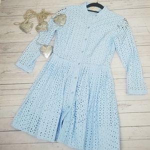 Michael Kors blue eyeled  dress  Size 0